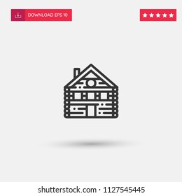 Outline House Icon isolated on grey background. Modern simple flat symbol for web site design, logo, app, UI. Editable stroke. Vector illustration. Eps10