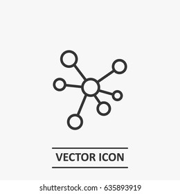 Outline Hub and spoke  icon illustration vector symbol
