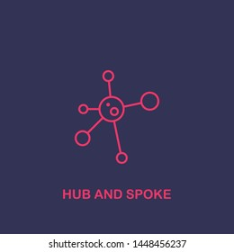 Outline Hub and spoke icon.Hub and spoke vector illustration. Symbol for web and mobile