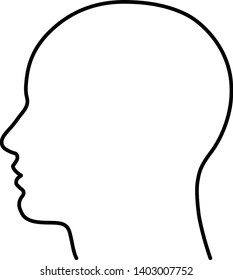 outline of human head - Vector