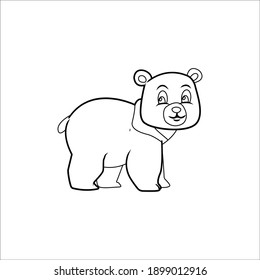 Outline icon bear animal design