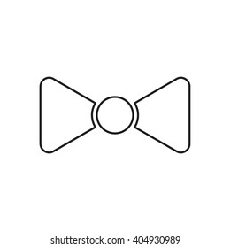 Outline icon bow tie, butterfly tie flat vector on white background. Element for logo design.