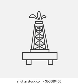 Outline icon of oil rig. oil rig illustration. Contour icon of oil rig.  icon of oil industry. Outline oil icon.