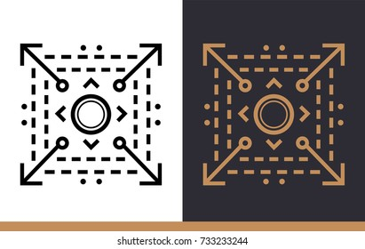 Outline icon Scalable system. Data science technology and machine learning process. Suitable for print, website and presentation
