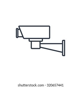 outline icon of security camera