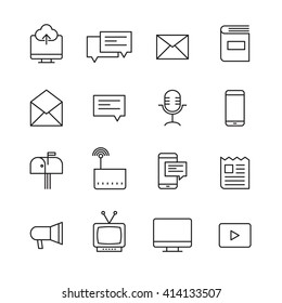 Outline Icon Set of  Communicate for website and mobile app.