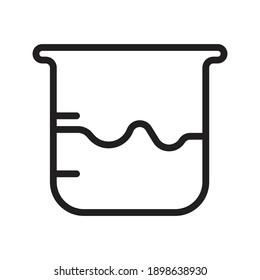 outline icon symbol for laboratory equipment beaker glass or beaker glass