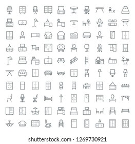 Outline Icons Set of Furniture