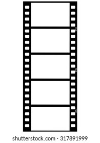 outline illustration of film strip