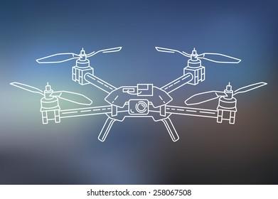 Outline illustration of quadcopter