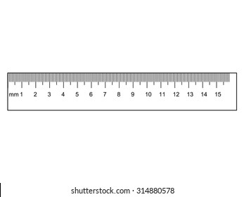 outline illustration of ruler, instrument of measurement