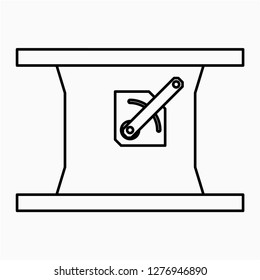 Outline industrial dampers vector icon