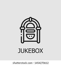 Outline jukebox vector icon. Jukebox illustration for web, mobile apps, design. Jukebox vector symbol.