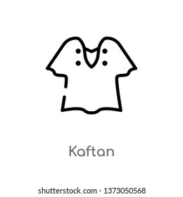 outline kaftan vector icon. isolated black simple line element illustration from clothes concept. editable vector stroke kaftan icon on white background