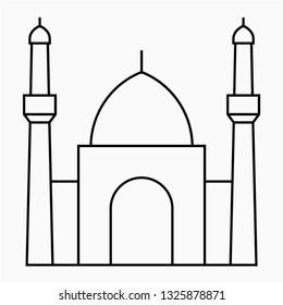 Outline karbala pixel perfect vector icon