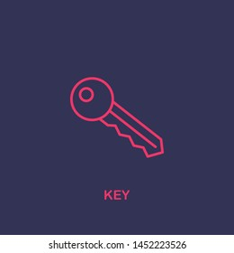 Outline key icon.key vector illustration. Symbol for web and mobile