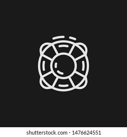 Outline lifeguard vector icon. Lifeguard illustration for web, mobile apps, design. Lifeguard vector symbol.