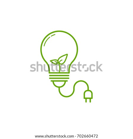 outline light bulb icon on white stock vector royalty free
