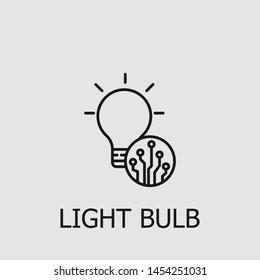 Outline light bulb vector icon. Light bulb illustration for web, mobile apps, design. Light bulb vector symbol.