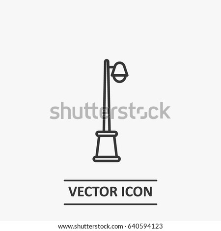 Outline Light Pole Icon Illustration Vector Stock Vector Royalty