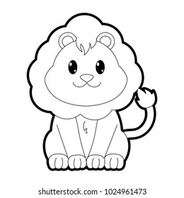 Cute Lion Outline Images Stock Photos Vectors Shutterstock Here presented 44+ lion head outline drawing images for free to download, print or share. https www shutterstock com image vector outline lion cute wild animal character 1024961473