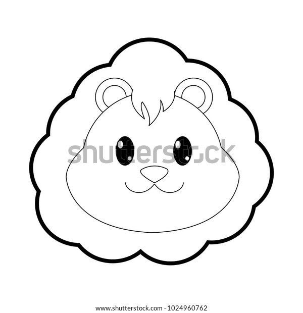 Outline Lion Head Cute Animal Character Stock Vector Royalty Free 1024960762 Similar with lion outline png. shutterstock