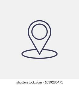 Outline location icon illustration vector symbol