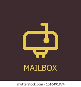 Outline mailbox vector icon. Mailbox illustration for web, mobile apps, design. Mailbox vector symbol.