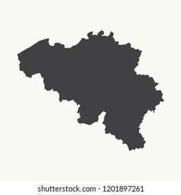 Outline map of Belgium. Isolated vector illustration.