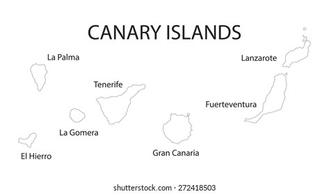 outline map of Canary Islands