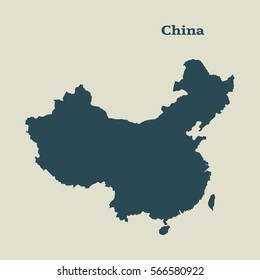 Outline map of China.