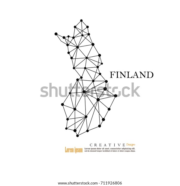 Outline Map Finlandvector Illustration Stock Vector (Royalty ...