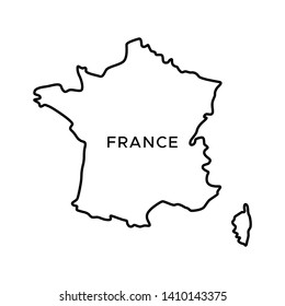 Outline Of Map Of France.France Border Images Stock Photos Vectors Shutterstock
