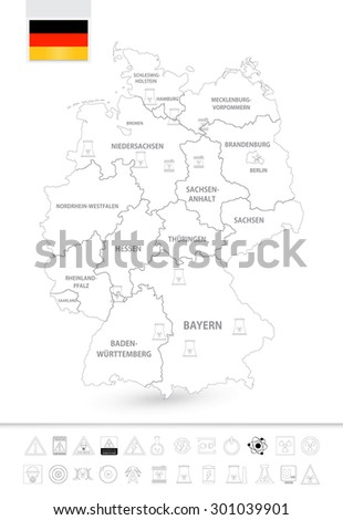 Outline Map Of Germany.Outline Map Germany Nuclear Power Plants Stock Vector Royalty Free