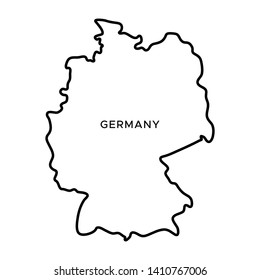 Outline Map of Germany Vector Design Template. Editable Stroke