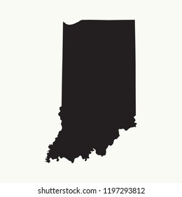 Outline map of Indiana. Isolated vector illustration.