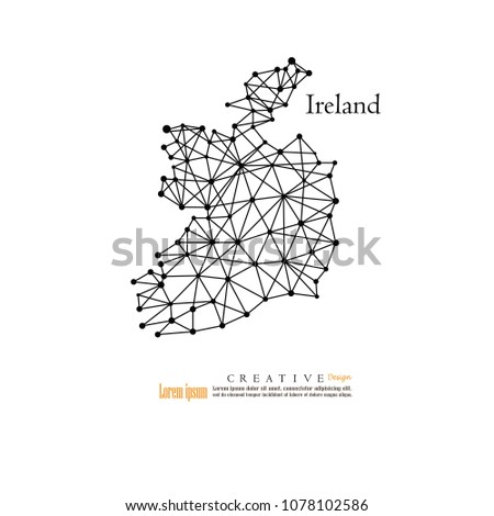Outline Map Of Ireland.Outline Map Ireland Vector Illustration Stock Vector Royalty Free