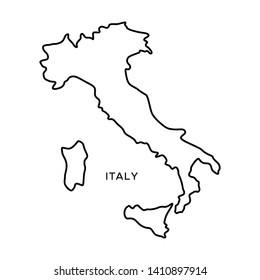 Outline Map of Italy Vector Design Template. Editable Stroke