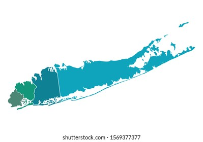 Outline map of Long island