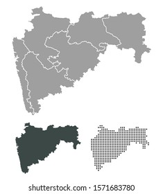 Outline map of maharashtra districts