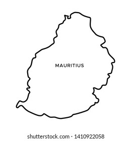 Mauritius Map Outline Images, Stock Photos & Vectors | Shutterstock