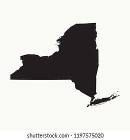 Outline map of  New York. Isolated vector illustration.
