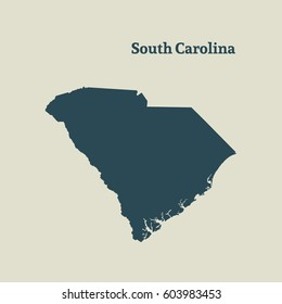 Outline map of South Carolina.