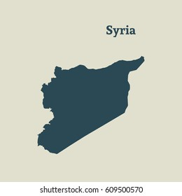 Syria map images stock photos vectors shutterstock outline map of syria isolated vector illustration gumiabroncs Choice Image