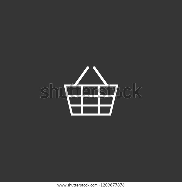 Outline Market Basket Icon Isolated On Stock Vector (Royalty Free