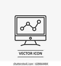 Outline marketing analytics  icon illustration vector symbol