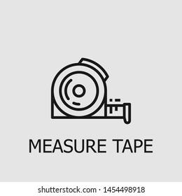 Outline measure tape vector icon. Measure tape illustration for web, mobile apps, design. Measure tape vector symbol.