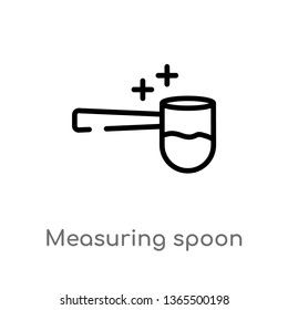 outline measuring spoon vector icon. isolated black simple line element illustration from miscellaneous concept. editable vector stroke measuring spoon icon on white background
