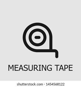 Outline measuring tape vector icon. Measuring tape illustration for web, mobile apps, design. Measuring tape vector symbol.