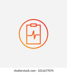 Outline medical clipboard icon.gradient illustration isolated vector sign symbol